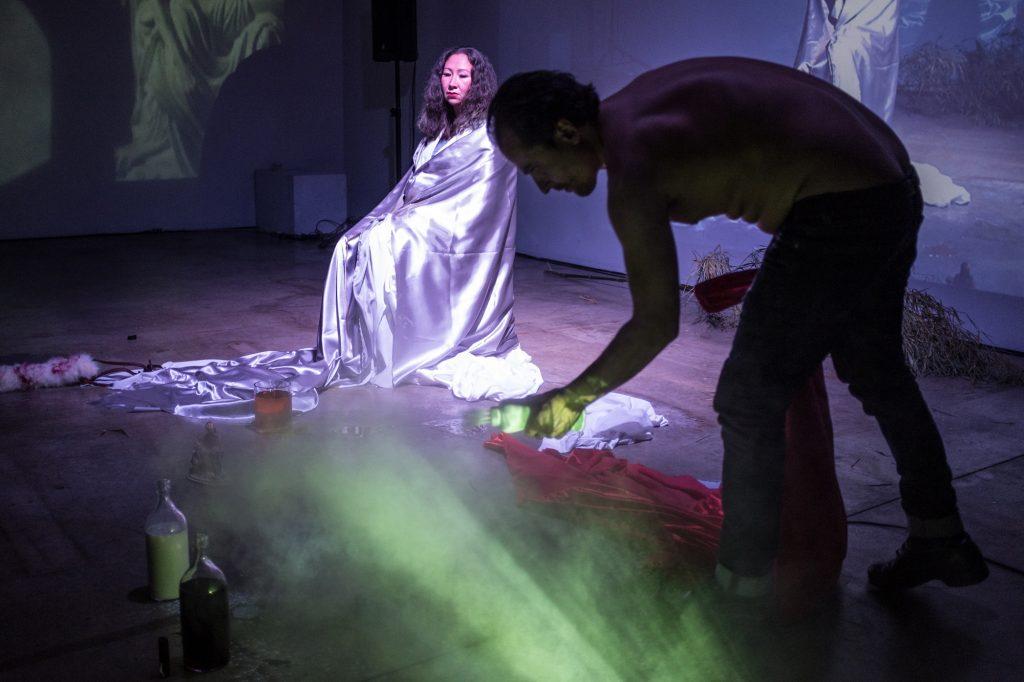 Theo Pelmus & Kristin Snowbird. LIVE Biennale 2017. Rennie Brown photo.