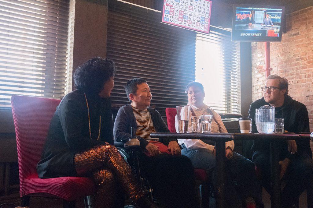 Artist talk, Day 3 at Pat's Pub. LIVE 2019. Photo by Xinyue Liu.