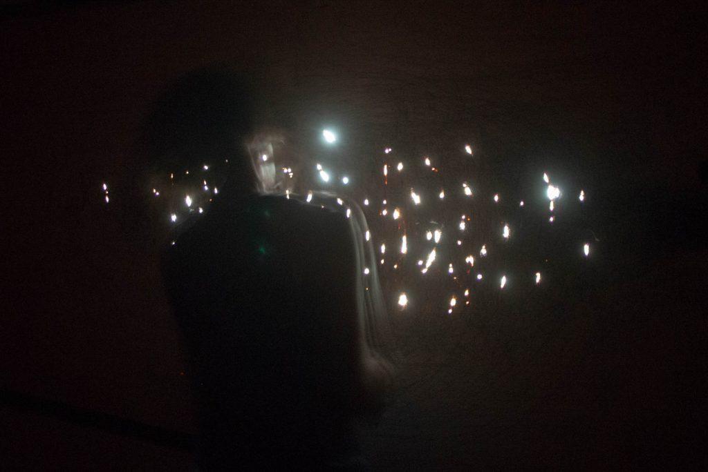 Mineki Murata performance at Ground Floor Art Centre. LIVE 2019. Photo by Bryce Hunnersen.