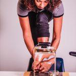 Artist Fadwa Bouziane participating in Margaret Dragu - VERB FRAU TV - Season 6: Desktop Performances. Photo by Saman Shariati.
