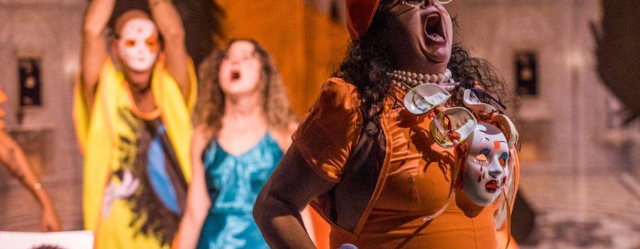 Genevieve et Matthieu performance. Photo by Saman Shariati.